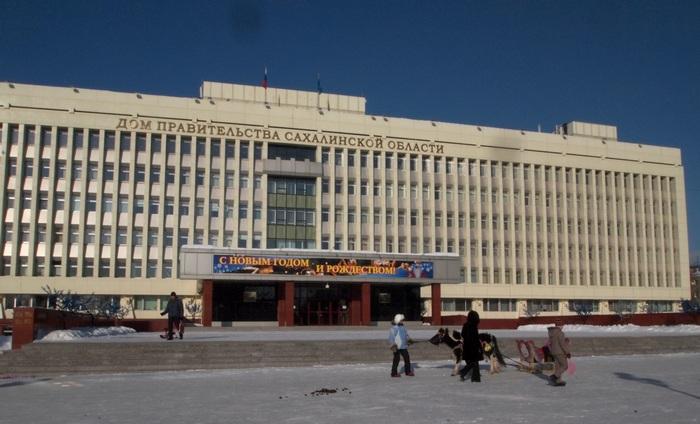 Южно-Сахалинск. Дом правительства. Новый год 2013