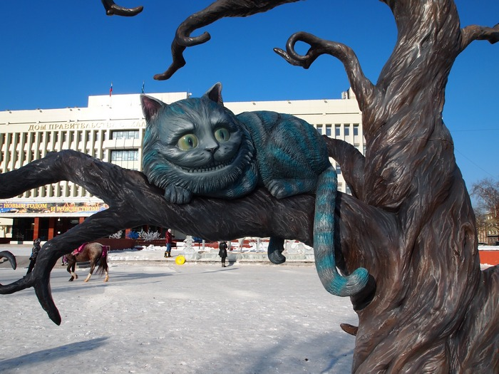 Южно-Сахалинск. Новогодний городок у Дома правительства. 2013 год