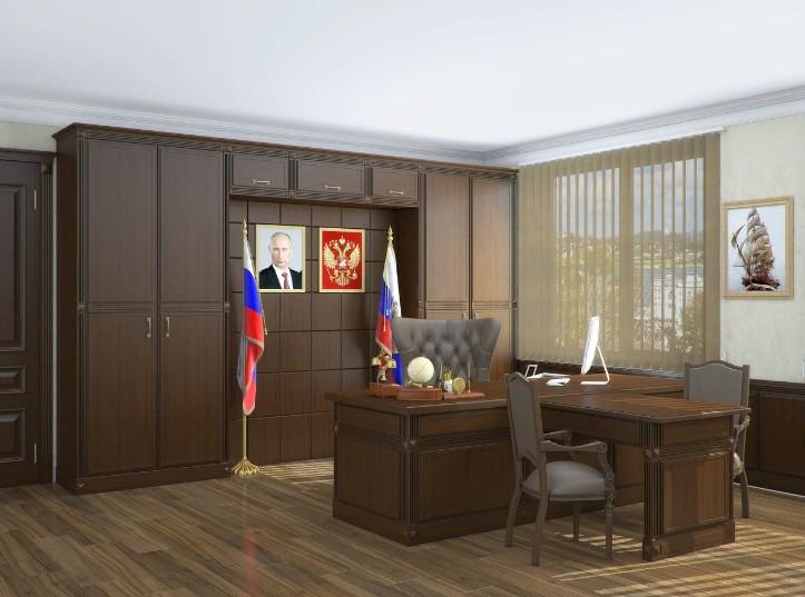 Кабинет чиновника с портретом В.Путина