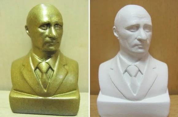 Путин. Бронзовая статуэтка. Керамическая статуэтка.